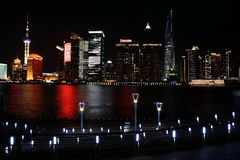 Night view in shanghai bund Royalty Free Stock Photos