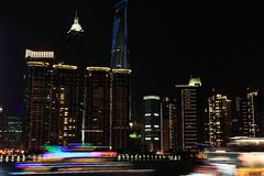 Night view in shanghai bund Stock Image
