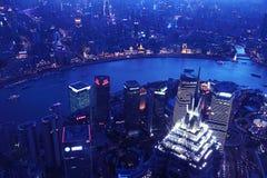 Night view in shanghai bund Royalty Free Stock Images