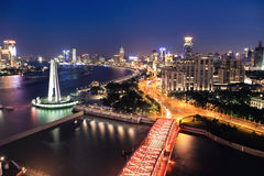 Night view of shanghai the bund Royalty Free Stock Images