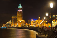 Night view of Shanghai Bund, China Stock Images
