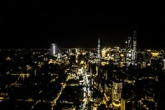 Night View of The SHANGHAI CHINA, Timelapse stock video