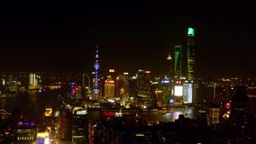 Night view of Shanghai China,4k Timelapse stock video footage