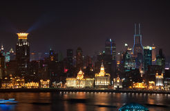 Night view of Shanghai China Stock Images