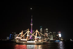 Night View of the SHANGHAI,CHINA Royalty Free Stock Photography