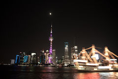 Night View of the SHANGHAI,CHINA Stock Photography