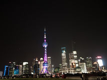 Night View of the SHANGHAI,CHINA Royalty Free Stock Photo