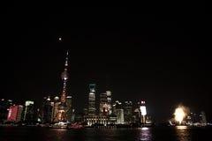Night View of the SHANGHAI,CHINA Stock Image