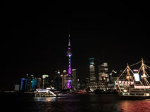 Night View of the SHANGHAI,CHINA Royalty Free Stock Images