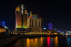 Night view of Shanghai, China Royalty Free Stock Images