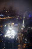 Night view of the Shanghai, China skyline. Royalty Free Stock Photos
