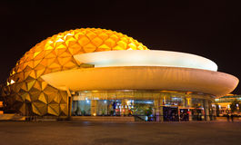 Night view of Shanghai Circus World Royalty Free Stock Image