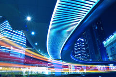 Night view of Shanghai City Beautiful Royalty Free Stock Images