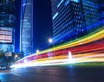 Night view of Shanghai City Beautiful Royalty Free Stock Photography