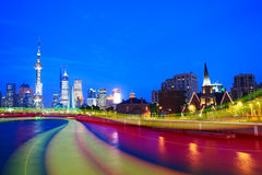 Night view of Shanghai City Beautiful Stock Images