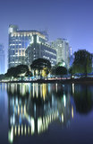 Night view of Shanghai city downtown area Royalty Free Stock Image