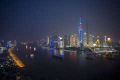 Night view of Shanghai city Stock Images