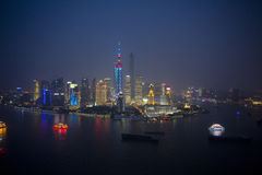 Night view of Shanghai city Royalty Free Stock Photography