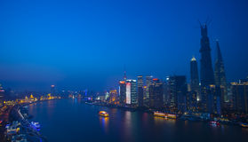 Night view of Shanghai city Royalty Free Stock Image