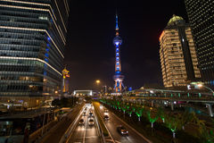 Night View of Shanghai Stock Photography