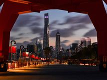 Night view of Shanghai lujiazui financial center royalty free stock photo