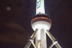 Night view of shanghai Pearl of the Orient tower Royalty Free Stock Photography