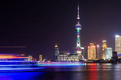 The night view of Shanghai. This picture is about the most beautiful night view of Shanghai Royalty Free Stock Images