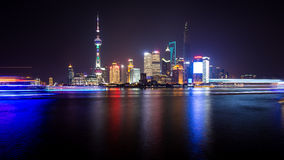The night view of Shanghai. This picture is about the most beautiful night view of Shanghai Royalty Free Stock Image