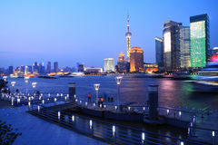 Night view of Shanghai urban landscapes Royalty Free Stock Photography