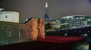 Night View of the Shard. A view of the tallest building in Europe, The Shard royalty free stock photo