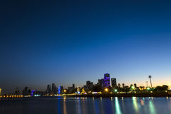Night View of Sharjah UAE Stock Images