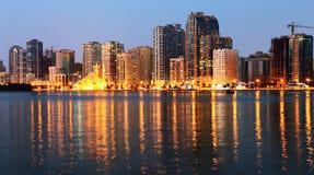Night view of Sharjah UAE Stock Photography