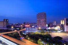 Night view of shenzhen ,China Stock Photography