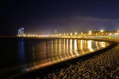 Night View at Shore Stock Photography
