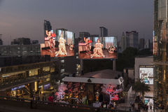 Night view of Siam shopping center Royalty Free Stock Photos
