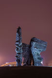 Night view of Silesian Insurgents Monument in Katowice Stock Image