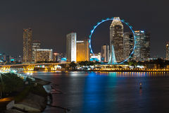 Night View of Singapore Stock Photo