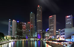 Night view of Singapore Royalty Free Stock Photography