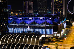 Night view Singapore Downtown, Convention Centre. At night Royalty Free Stock Images