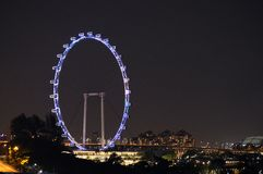 Night View of Singapore Flyer Stock Photography
