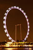 Nightscop of singapore flyer Royalty Free Stock Image