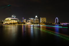 Night view in singapore Stock Images