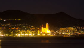 Night  view of Sitges Stock Images