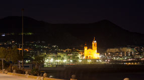 Night  view of Sitges Royalty Free Stock Images