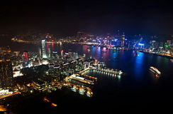 Night view from SKY 100 Royalty Free Stock Photography