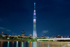 Night view of Sky Tree Royalty Free Stock Photos