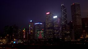 Skyline of Hongkong island
