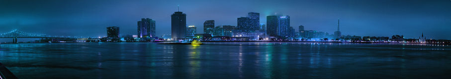 Night View of Skyline of New Orleans Royalty Free Stock Photography