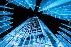 Night view of the skyscraper Stock Photos