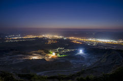 Night view from Slovakian mountains Royalty Free Stock Photos